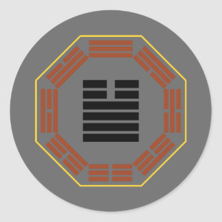 "I Ching Hexagram 34 Ta Chuang ""Great Invigorating"" Classic Round Sticker"