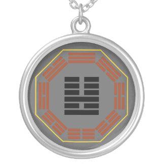 "I Ching Hexagram 36 Ming I ""Brightness Hiding"" Round Pendant Necklace"