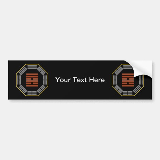 "I Ching Hexagram 37 Chia Jen ""The Family"" Bumper Sticker"