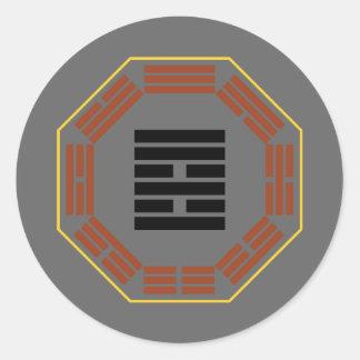 "I Ching Hexagram 37 Chia Jen ""The Family"" Classic Round Sticker"