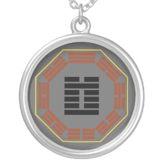 """I Ching Hexagram 3 Chun """"Difficulty"""" Round Pendant Necklace"""