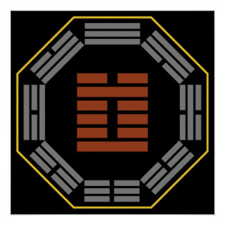 "I Ching Hexagram 3 Chun ""Difficulty"" Print"