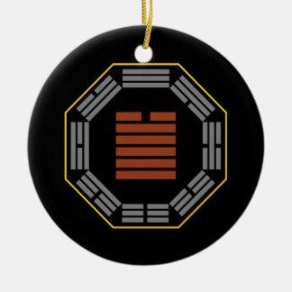 "I Ching Hexagram 43 Kuai ""Breakthrough"" Ceramic Ornament"