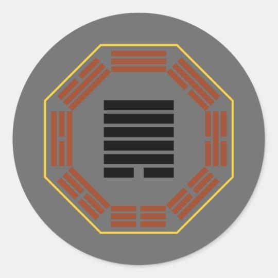 "I Ching Hexagram 44 Kou ""Meeting"" Classic Round Sticker"
