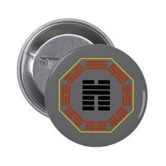 """I Ching Hexagram 45 Ts'ui """"Gathering"""" Button"""