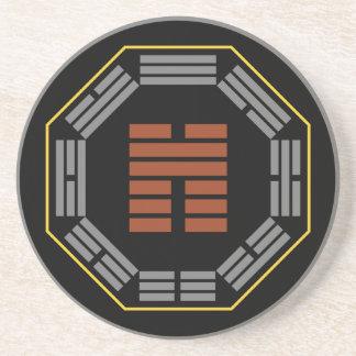 "I Ching Hexagram 45 Ts'ui ""Gathering"" Drink Coaster"