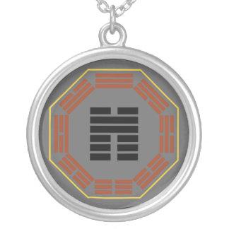 """I Ching Hexagram 45 Ts'ui """"Gathering"""" Round Pendant Necklace"""