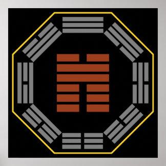 "I Ching Hexagram 45 Ts'ui ""Gathering"" Poster"