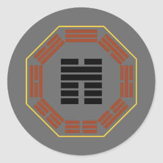"I Ching Hexagram 45 Ts'ui ""Gathering"" Round Sticker"