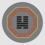 "I Ching Hexagram 46 Sheng ""Ascending"" Round Stickers"