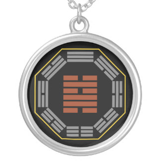 """I Ching Hexagram 48 Ching """"The Well"""" Round Pendant Necklace"""