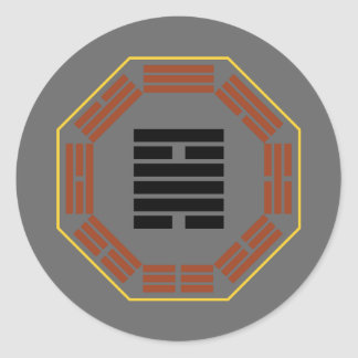 "I Ching Hexagram 50 Ting ""The Cauldron"" Classic Round Sticker"