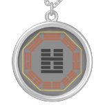 "I Ching Hexagram 51 Chen ""The Arousing"" Round Pendant Necklace"