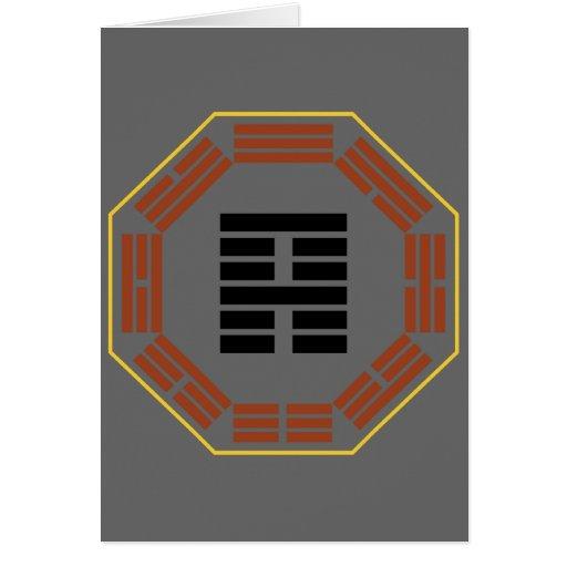 """I Ching Hexagram 52 Ken """"Keeping Still"""" Card"""