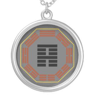 "I Ching Hexagram 52 Ken ""Keeping Still"" Round Pendant Necklace"