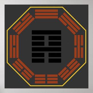 """I Ching Hexagram 52 Ken """"Keeping Still"""" Posters"""