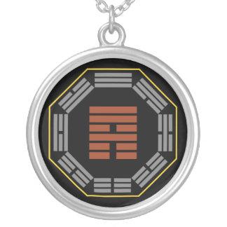 "I Ching Hexagram 53 Chien ""Development"" Round Pendant Necklace"