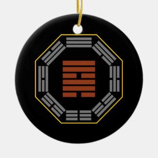 "I Ching Hexagram 57 Sun ""Gentle Wind"" Ceramic Ornament"
