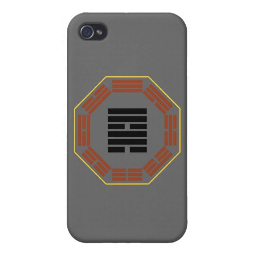 "I Ching Hexagram 57 Sun ""Gentle Wind"" iPhone 4 Cover"
