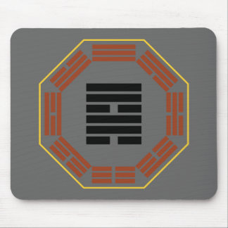 """I Ching Hexagram 57 Sun """"Gentle Wind"""" Mouse Pad"""