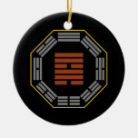 "I Ching Hexagram 57 Sun ""Gentle Wind"" Christmas Ornaments"