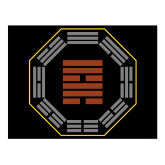 "I Ching Hexagram 57 Sun ""Gentle Wind"" Postcard"