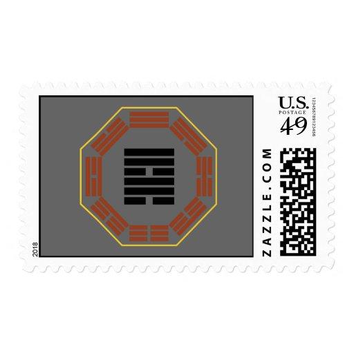 """I Ching Hexagram 57 Sun """"Gentle Wind"""" Stamps"""
