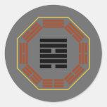 """I Ching Hexagram 57 Sun """"Gentle Wind"""" Round Stickers"""