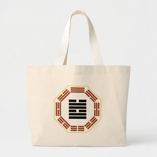 "I Ching Hexagram 58 Tui ""Joy"" Large Tote Bag"