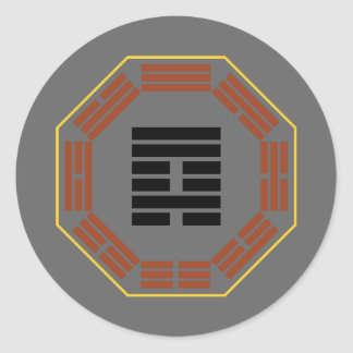 "I Ching Hexagram 59 Huan ""Dispersion"" Classic Round Sticker"