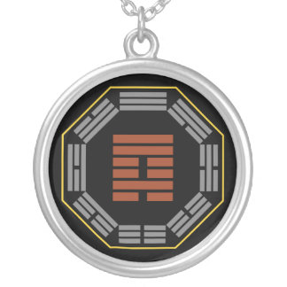 "I Ching Hexagram 59 Huan ""Dispersion"" Silver Plated Necklace"