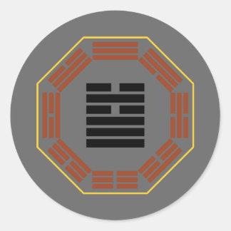 """I Ching Hexagram 5 Hsu """"Waiting"""" Round Sticker"""