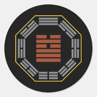 """I Ching Hexagram 5 Hsu """"Waiting"""" Round Stickers"""