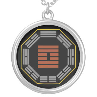"""I Ching Hexagram 61 Chung Fu """"Inner Truth"""" Round Pendant Necklace"""