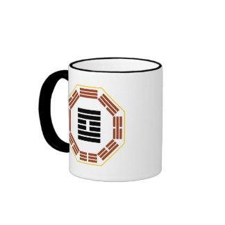 """I Ching Hexagram 61 Chung Fu """"Inner Truth"""" Ringer Mug"""