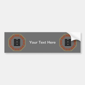 """I Ching Hexagram 63 Chi Chi """"After Completion"""" Bumper Sticker"""