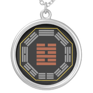 """I Ching Hexagram 63 Chi Chi """"After Completion"""" Round Pendant Necklace"""