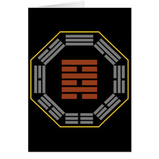"""I Ching Hexagram 64 Wei Chi """"Before Completion"""" Greeting Cards"""