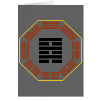 """I Ching Hexagram 64 Wei Chi """"Before Completion"""" Greeting Card"""