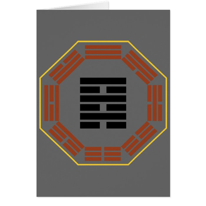 """I Ching Hexagram 64 Wei Chi """"Before Completion"""" Card"""