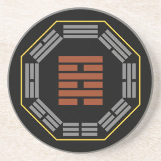 """I Ching Hexagram 64 Wei Chi """"Before Completion"""" Beverage Coaster"""