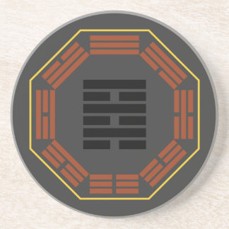 """I Ching Hexagram 64 Wei Chi """"Before Completion"""" Beverage Coasters"""