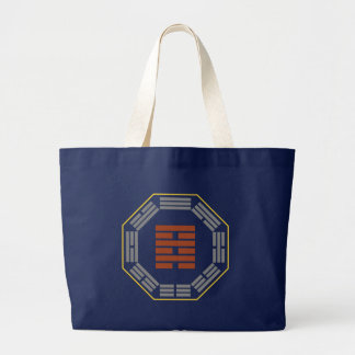 """I Ching Hexagram 64 Wei Chi """"Before Completion"""" Large Tote Bag"""