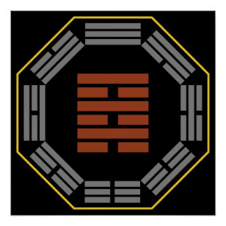 """I Ching Hexagram 64 Wei Chi """"Before Completion"""" Posters"""