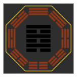 "I Ching Hexagram 64 Wei Chi ""Before Completion"" Print"
