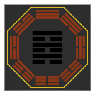 """I Ching Hexagram 64 Wei Chi """"Before Completion"""" Print"""