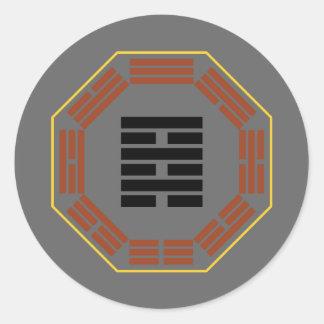 "I Ching Hexagram 64 Wei Chi ""Before Completion"" Round Sticker"