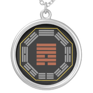 """I Ching Hexagram 6 Sung """"Contention"""" Round Pendant Necklace"""