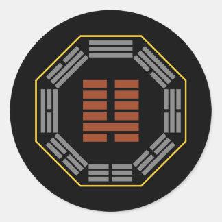 "I Ching Hexagram 7 Shih ""An Army"" Classic Round Sticker"