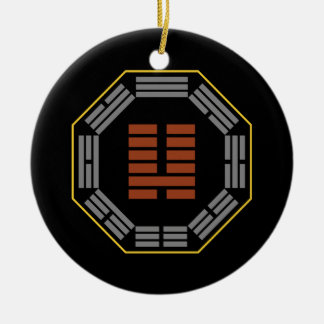 """I Ching Hexagram 7 Shih """"An Army"""" Double-Sided Ceramic Round Christmas Ornament"""